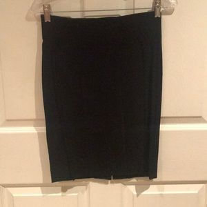 bebe lined black pencil skirt